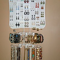 Organizing Jewelry Valet (White) by Longstem - Amazing display idea - Longstem is the mark of quality!
