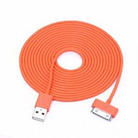 Amazon.com: Colorful 30pin USB Data Sync and Charge Cable Compatible with Iphone 4/4s, Iphone 3g/3gs, Ipod (Orange,10ft Long): Cell Phones & Accessories