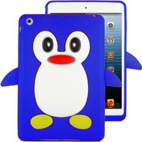 Amazon.com: HHI Silicone Skin Case for iPad Mini - Blue Penguin (Package include a HandHelditems Sketch Stylus Pen): Electronics