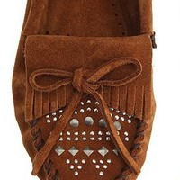 UrbanOutfitters.com &gt; Minnetonka Studded Moccasin