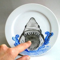 Whimsy Shark Attack Side Plate