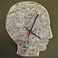 Tribal Clock by MentalBaggage on Etsy