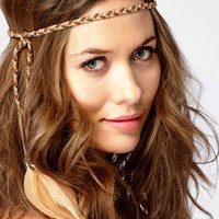 Suede & Cord Head Wrap | Brown Bohemian Headband | fredflare.com