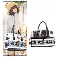 Stylish and Distinctive Wapiti Printing Agraffe and Zipper Design Handbag For Female China Wholesale - Sammydress.com