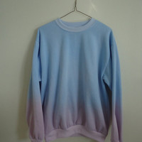 Pastel Dip Dye Jumper/Sweatshirt Womens Small