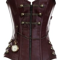 Amazon.com: CD-467 - Brown Steam punk Style Corset with Chain Detail: Clothing