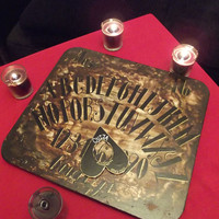 Hand crafted Ouija spirit board parlour game by KathrynCrocker
