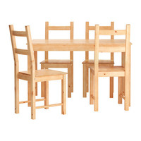 INGO/IVAR Table and 4 chairs - IKEA