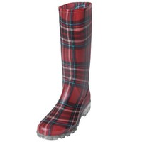 Adi Designs Womens Plaid Rainboots