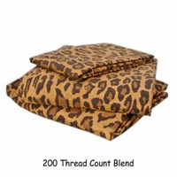 Wake Up Frankie - Brown Leopard Print Sheet Set - Brown Leopard Print Sheet Set  : Teen Bedding, Pink Bedding, Dorm Bedding, Teen Comforters