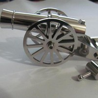 World's Smallest Mini Napoleon Cannon Artillery Stainless Steel 1:250 Model New