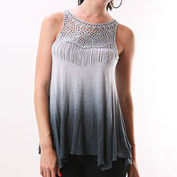 Fringe Fade Tank - $24.99 Tribal Tops at Pinkice.com