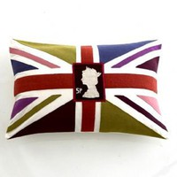 Union Jack stamp cushion
