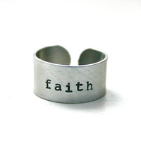 Hand stamped faith ring