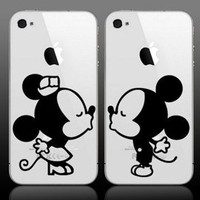 Mickey and Minnie cuties kissing for iphones or by GrabersGraphics