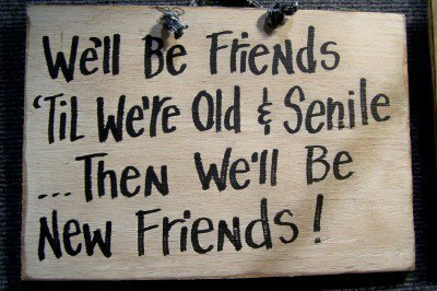 We&#x27;ll be FRIENDS til we&#x27;re old and SENILE then by trimblecrafts