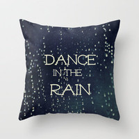 Dance in the Rain Throw Pillow by Caleb Troy | Society6