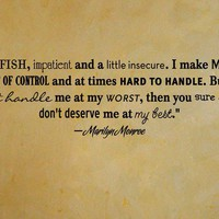 Marilyn Monroe quote removable wall vinyl at by daydreamerdesign