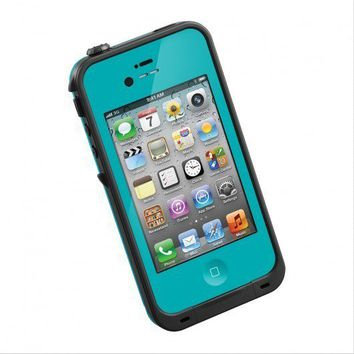 NEW iPhone 4 4S TEAL Waterproof Snowproof Lifeproof Dirtproof Case USA