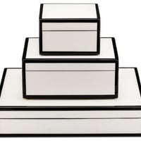 White/Black Stacking - PC - boxes - home accessories - lille: a shop