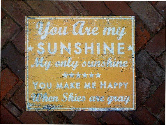 You Are My Sunshine rustic wooden sign by GoJumpInTheLake on Etsy