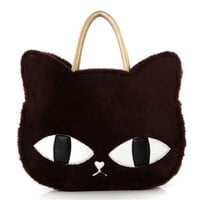 Cute Fashion Women Girls Cat Head Style Plush Shoulder Bag Handbag Four Colors
