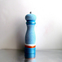 Pepper Mill: Blue and white Hand Painted Pepper Mill