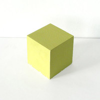 Bauhaus Yellow Wooden Cube