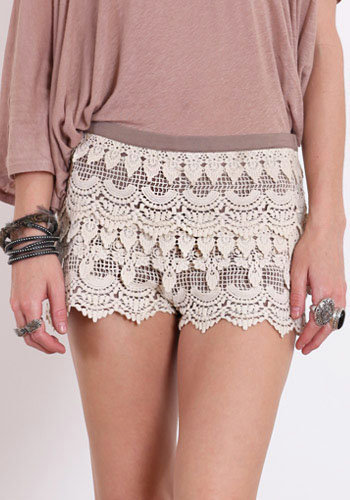 Windowpane Crochet Shorts - &amp;#36;36.00 : ThreadSence.com, Your Spot For Indie Clothing  Indie Urban Culture