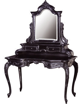 Black Rococo Dresser with Mirror - Sweetpea & Willow London