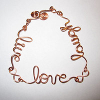 Live Love Laugh Bracelet Copper Wire Wrapped