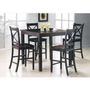 5 PC Pack Martha Counter Height Dining Set (Table and 4 Chairs) - Acme Furniture | Dining sets