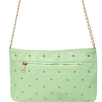 Mints Meet Studded Mint Green Purse