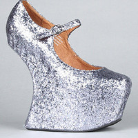 The Night Walk Shoe in Pewter Glitter : Jeffrey Campbell : Karmaloop.com - Global Concrete Culture