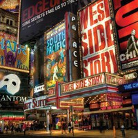 New York City Broadway Times Square Theater District Art Print Poster - 24x36 custom fit with RichA