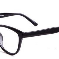 Sassi Eyeglasses with Black Acetate Aviator Full Frame/Rim Frame