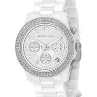 Michael Kors Ceramic Glitzy Watch, 39 mm | Bloomingdale's