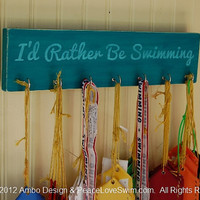 I'd Rather Be Swimming Ribbon Hanging Display  -  Customization & Personalization Available