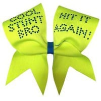 Amazon.com: Cool Stunt Bro- Neon Yellow Cheer Bow: Sports & Outdoors