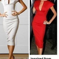 Black Cocktail Dress - Victoria Beckham Inspired Dress