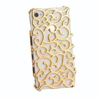 Amazon.com: Electroplating Hollow Pattern PC Case Hard Back Cover for iPhone 4S/4, Gold: Cell Phones & Accessories