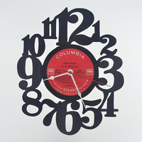 Vinyl Record Wall Clock (artist is Chicago)