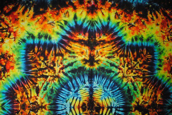 Brilliant Tie Dye Tapestry Festival Size by Emeraldsprings on Etsy