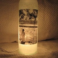 Personalized Picture Decorative Lighted Wine by UniqueWineBottles