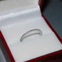 Diamond wedding band 14k White Gold by EidelPrecious on Etsy