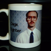 Coffee Mug Napoleon Dynamite Kip Cage Fighter by CreateItYourWay