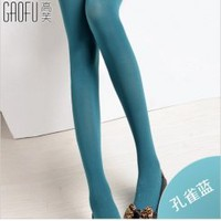 Wholesale Fashion colors tights for women GF-8128 peacock blue - Lovely Fashion