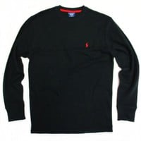 Polo Ralph Lauren Men's Long-sleeved T-shirt / Sleepwear / Thermal in Black, Red Pony