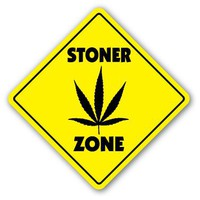 STONER ZONE Sign novelty funny weed pipe pot 420 gift