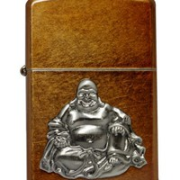 Zippo Buddha Emblem Toffee Pocket Lighter